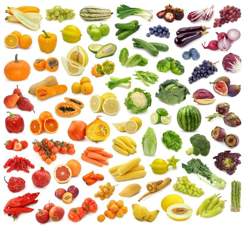 Rainbow of Fruits and Vegetables!