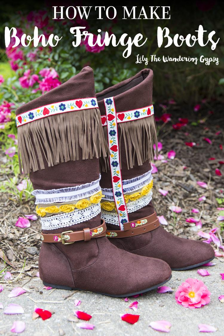 Boho Fringe Boots