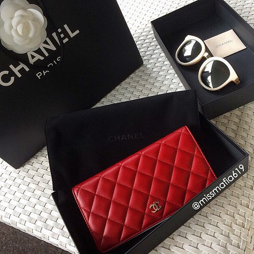 Red Chanel Wallet