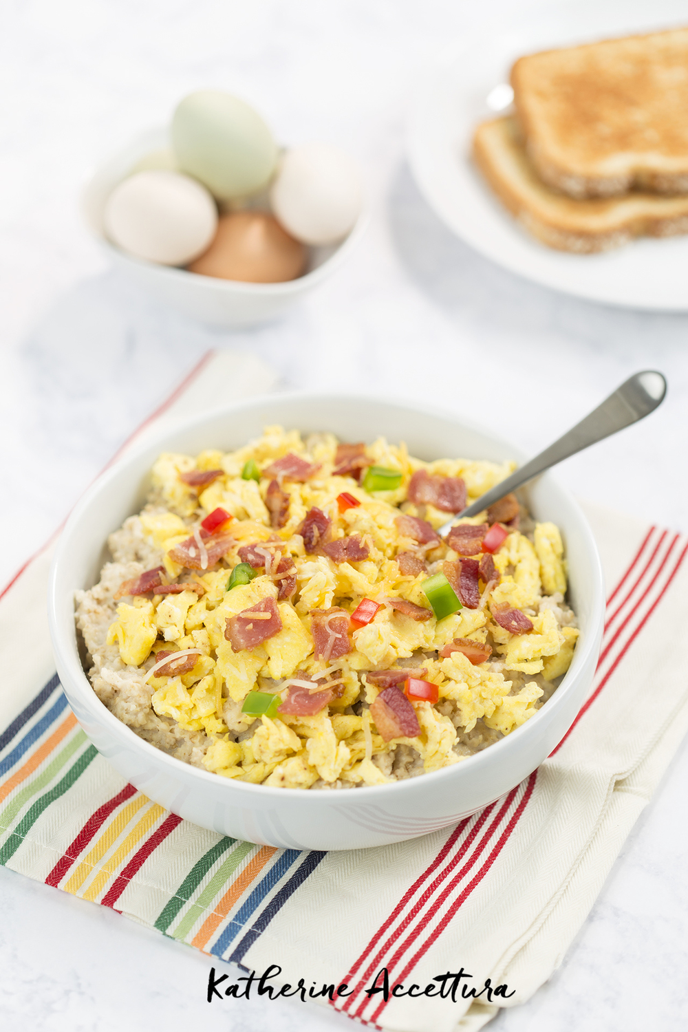 Bacon, Egg, and Cheese Oatmeal