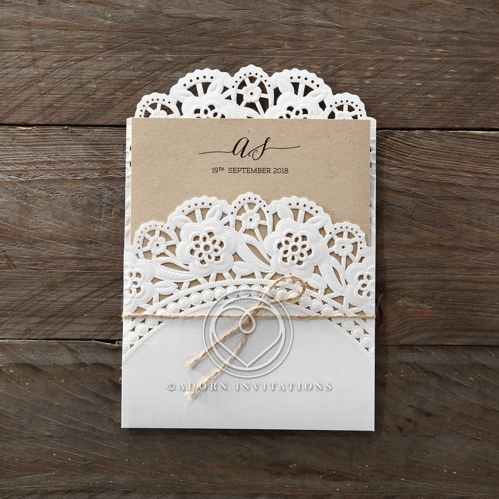The Rustic Lace Doily Delight Invites