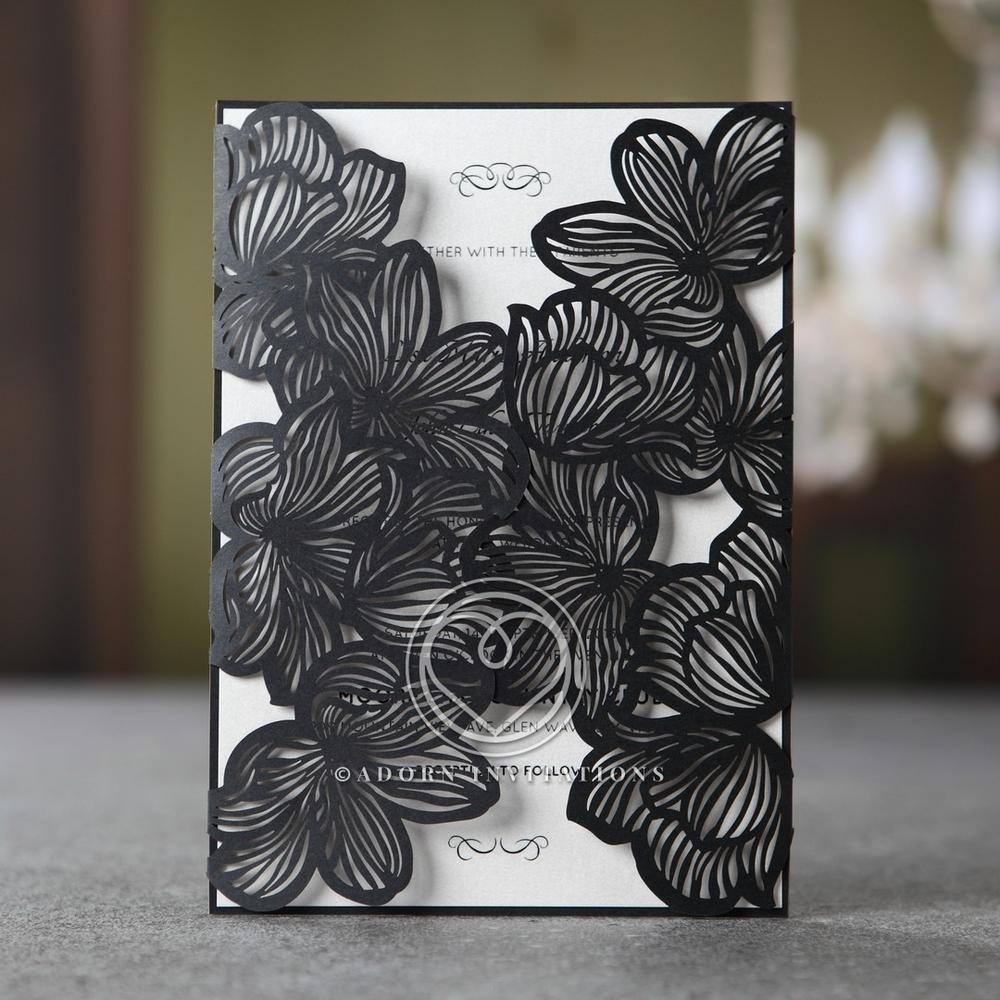 Floral Lasercut Invites