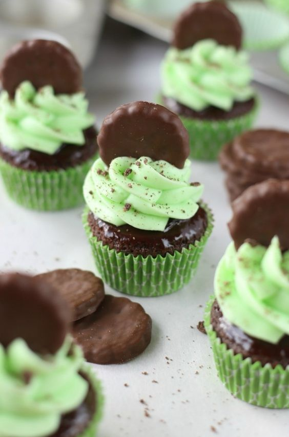 Thin Mint Cupcakes by My Baking Addiction
