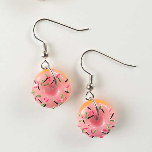 Itty Bitty Donut Earrings