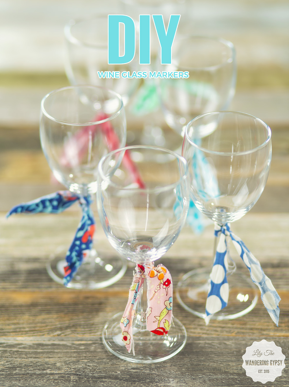 DIY Fabric Wine Glass Markers #BlackBoxSummer #CollectiveBias (Msg4 21+)