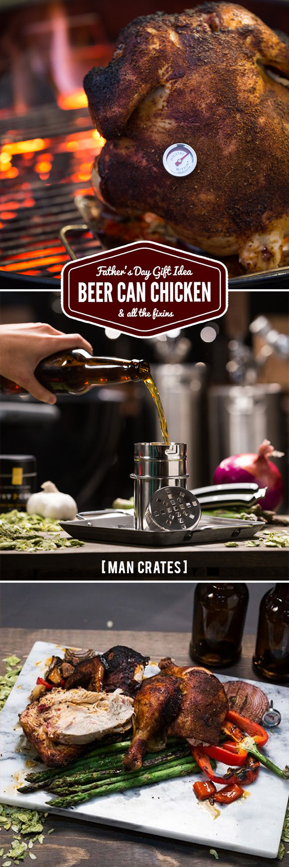 Beer Can Chicken - Man Crates