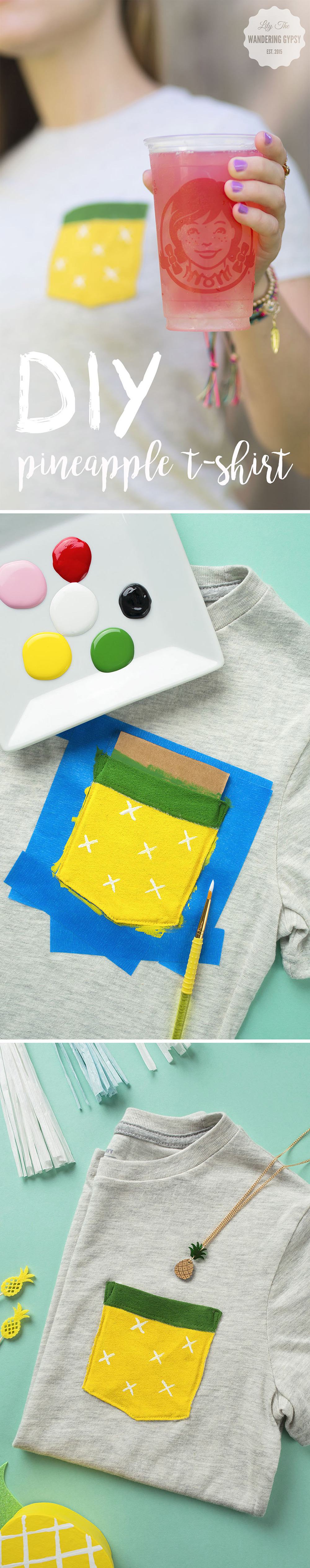 DIY Pineapple Pocket Tee