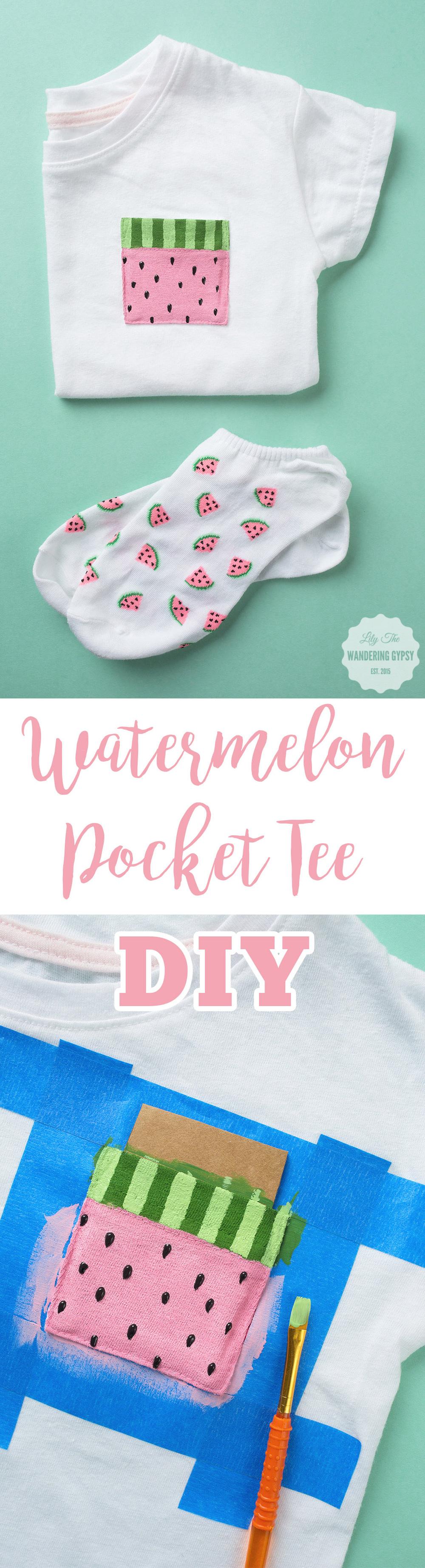 Cute DIY Idea! Watermelon Pocket Tee
