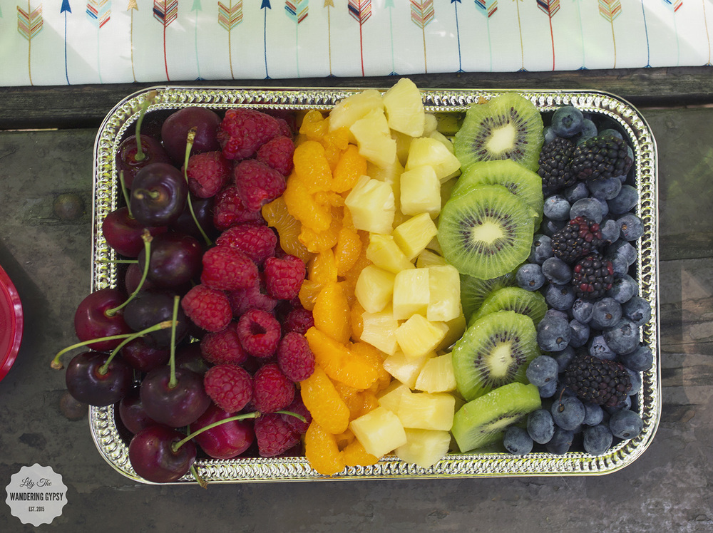 Rainbow Fruit Tray - So easy!