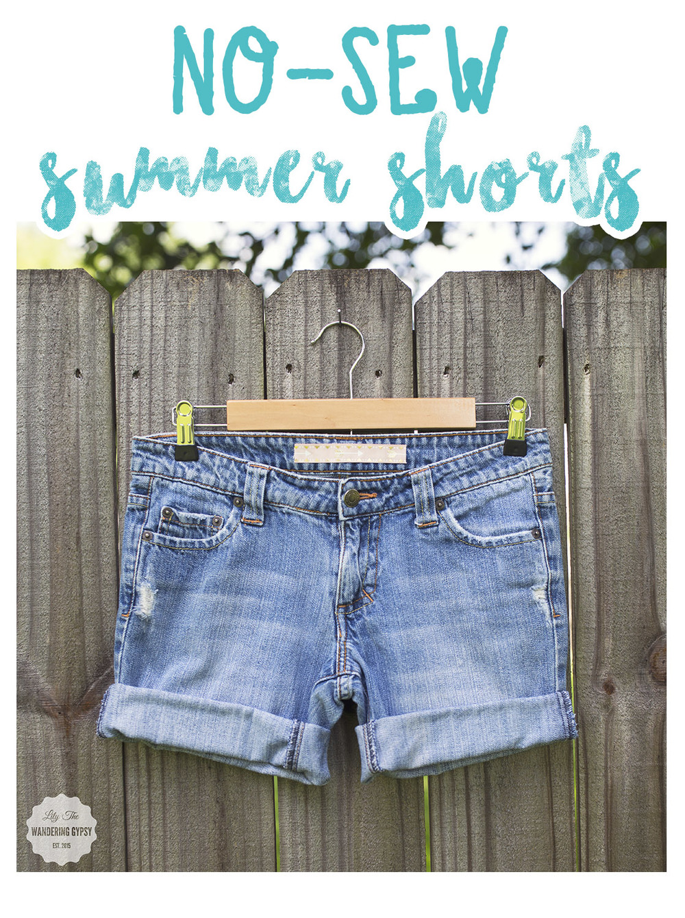 DIY No-Sew Shorts