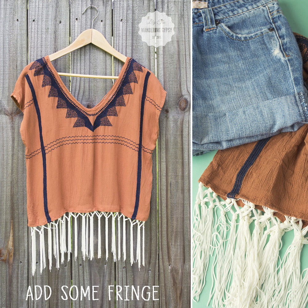 Add Fringe To Any Shirt