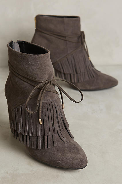 adorable fringe booties