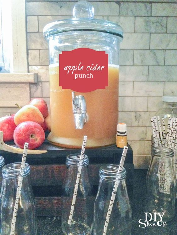 fall cider drink station