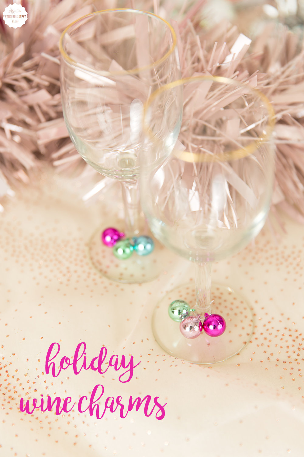 Holiday Wine Charms - DIY Project