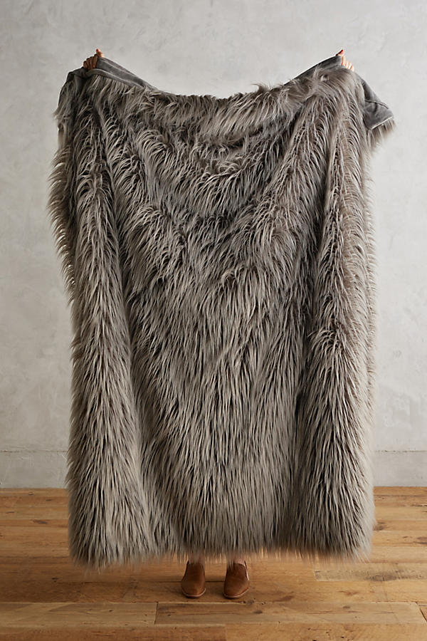 Chroma Faux-Fur Throw Blanket