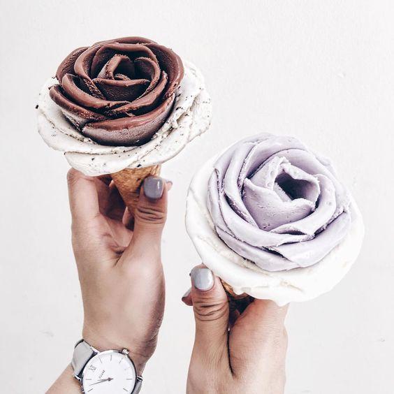rosette ice cream cones