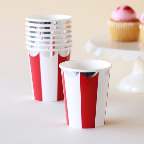 Sweet Tooth Striped Paper Cups