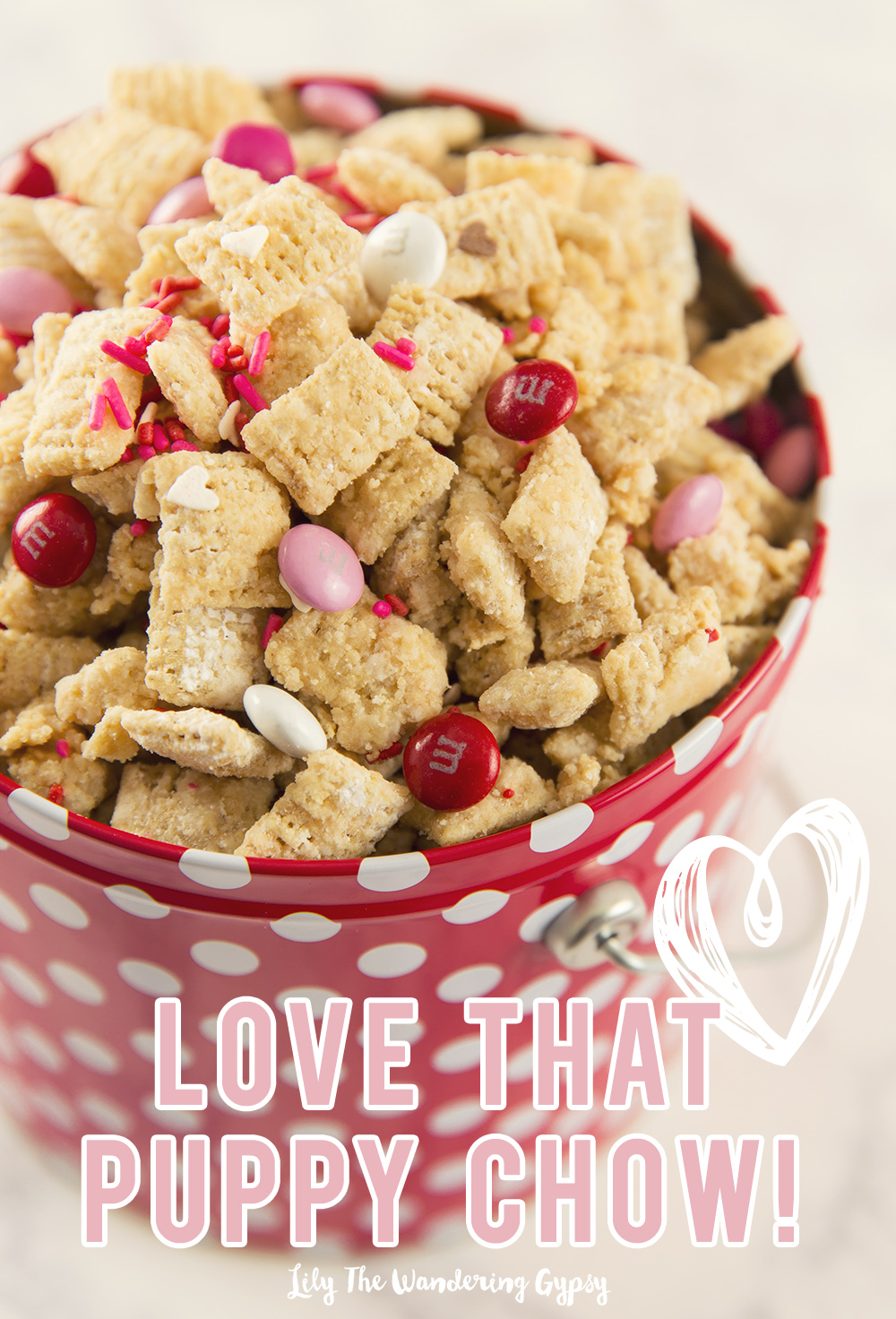 Valentine's Day PB Puppy Chow