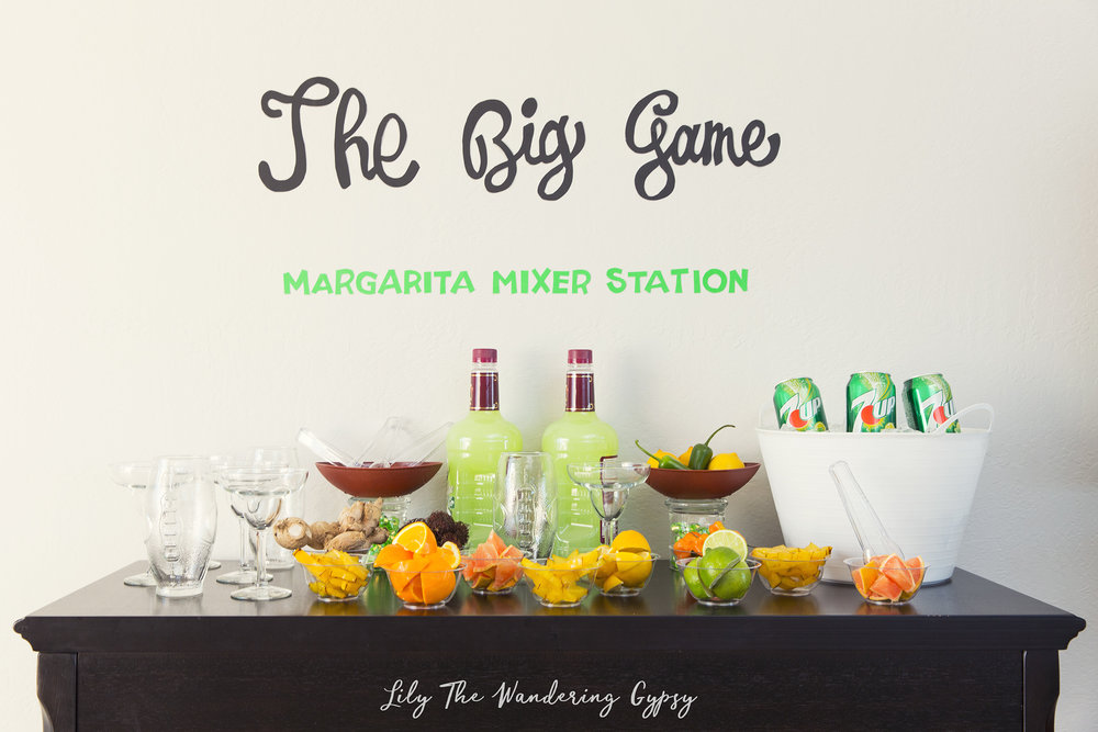 The Big Game Margarita Bar - #JustAdd7UP