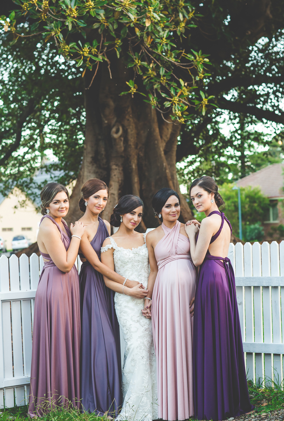 purple wedding gowns