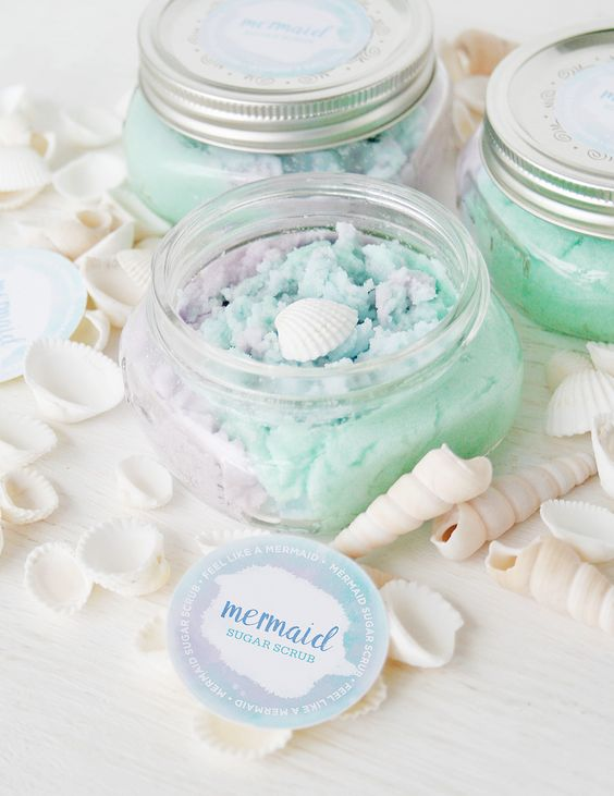 DIY Mermaid Salt Scrub