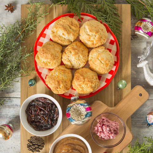 Holiday Morning Biscuits + Toppings