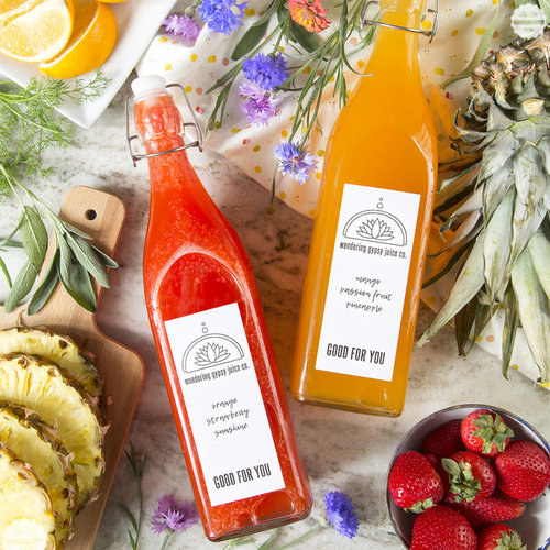 Homemade Juice Recipes + Cute Labels