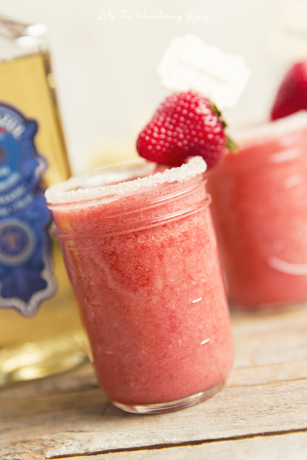 Strawberry Coconut Frozen Margaritas