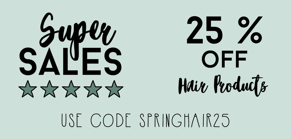 Sale On Hair Products!