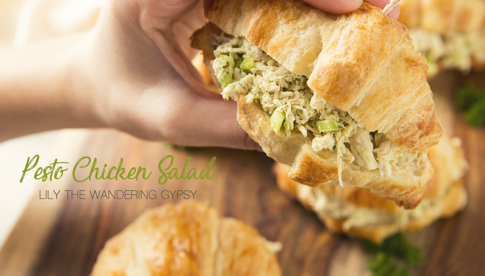Pesto Chicken Salad On Croissants