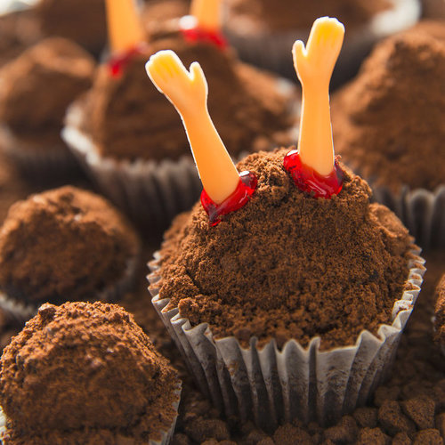 "Rise of the ""Undead"" Chocolate Cupcakes"
