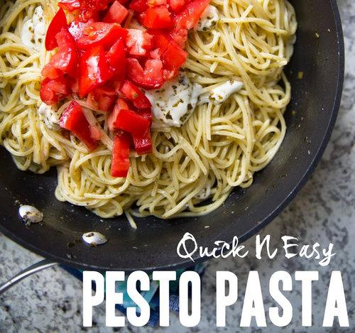 Quick N Easy Pesto Pasta - Get The Recipe