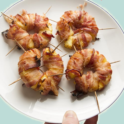 Bacon Wrapped Pineapple - Get The Recipe
