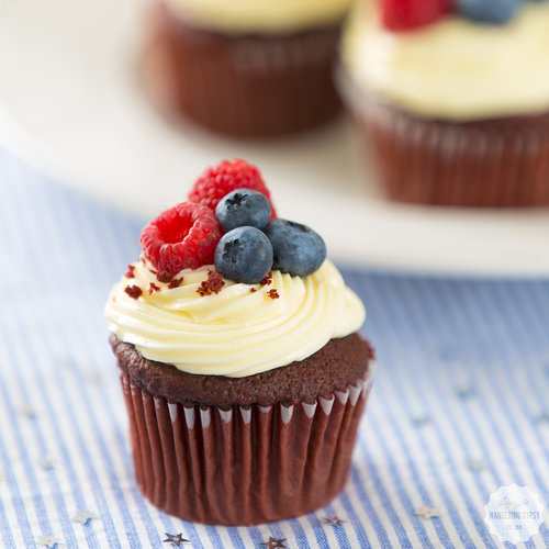 Berry-Topped Cupcakes