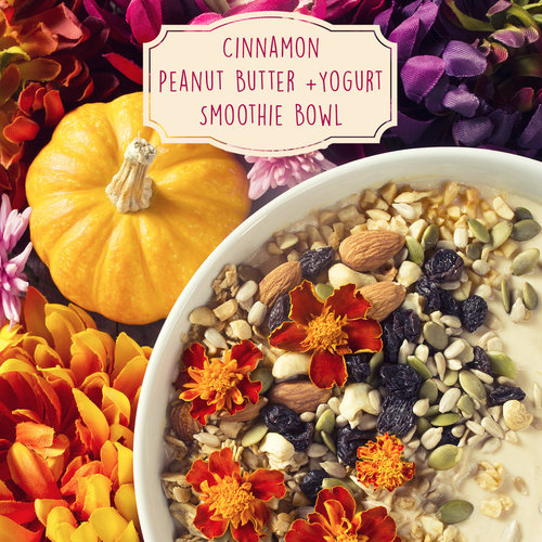 Peanut Butter + Yogurt Smoothie Bowl