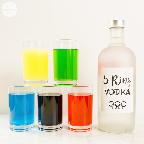 Olympics Candy Colored Vodka - Get The Recipe