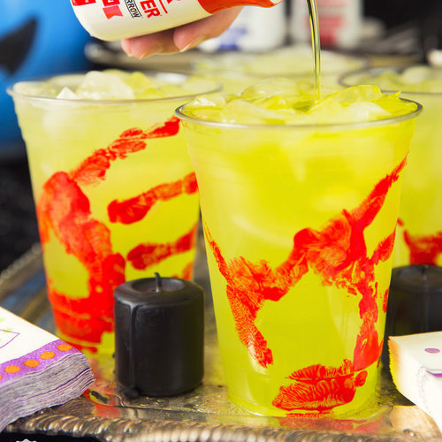 "DIY ""Bloody"" Handprint Glasses for Halloween"