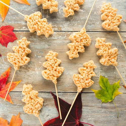 Fall Leaf Rice Krispy Treats - Get The Recipe