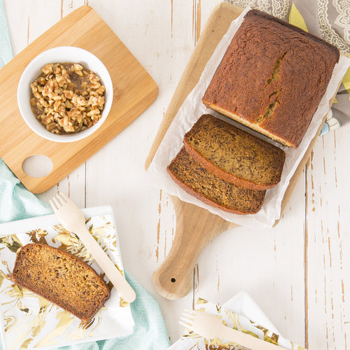 Bananana Bread Recipe with Maple Walnut Topping