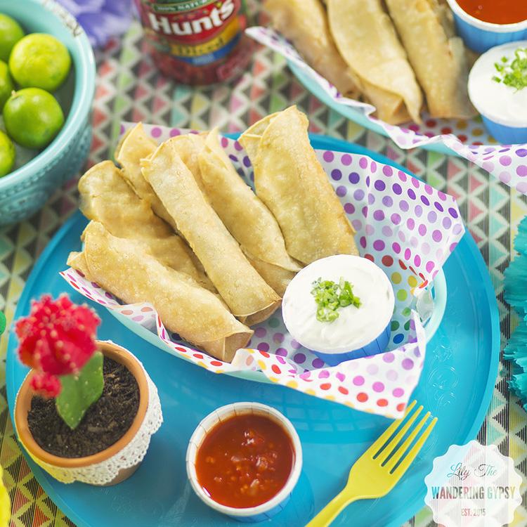 Chicken & Tomato Taquitos - Get The Recipe