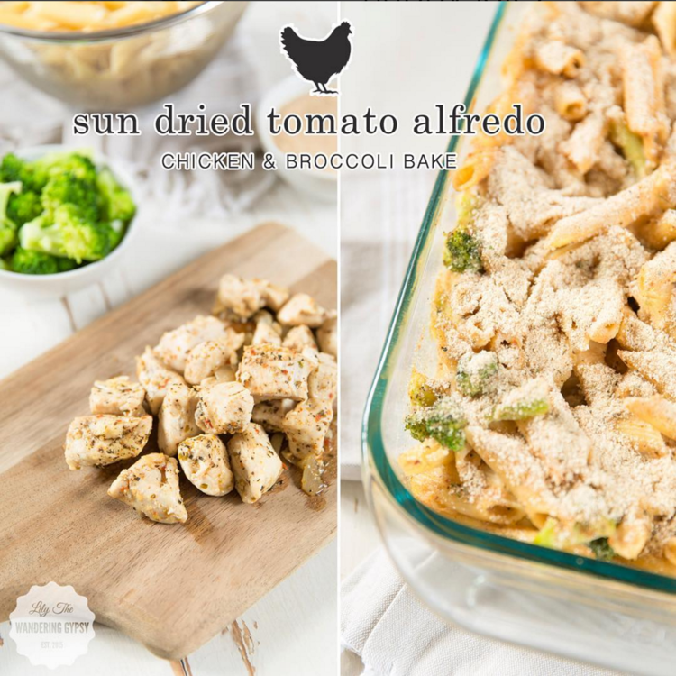 Sun Dried Tomato Alfredo Chicken & Broccoli