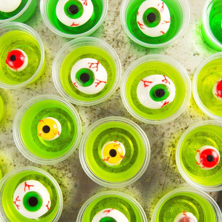 Zombie Eye Jell-O Shots
