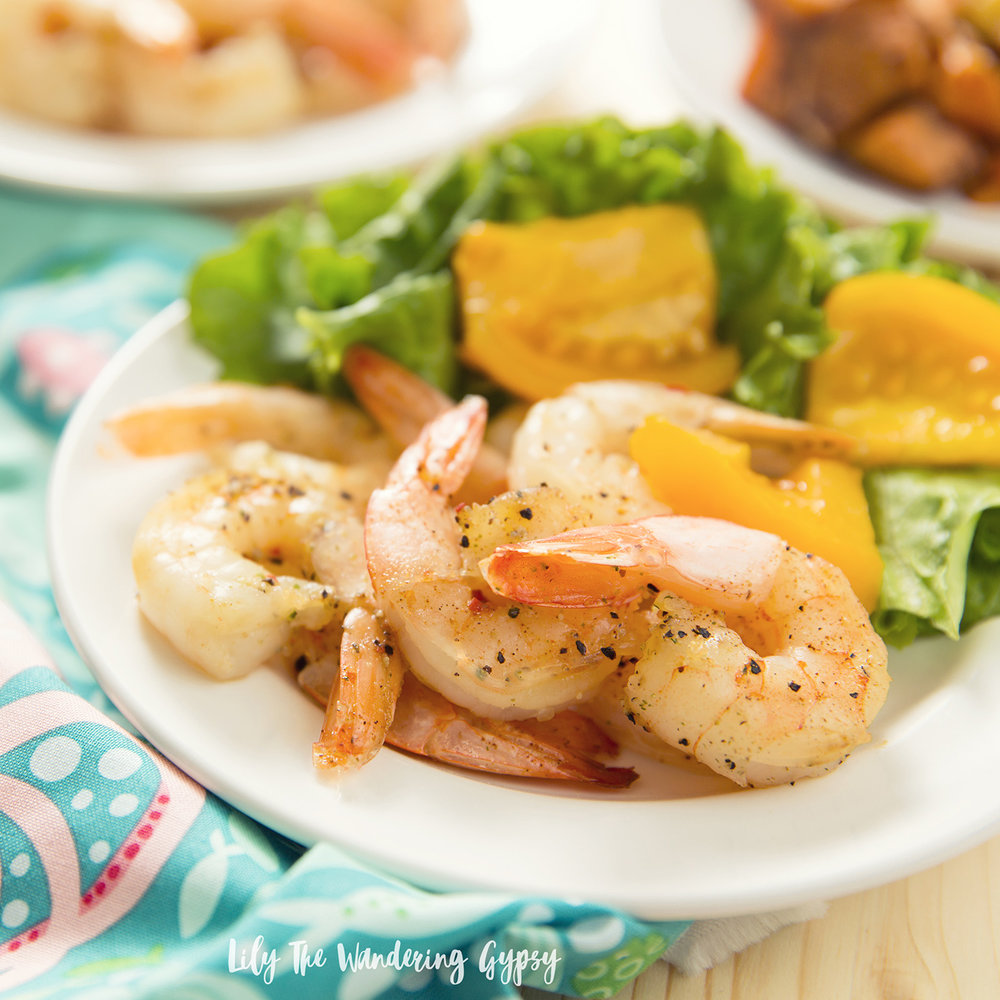 Sustainable Shrimp + Sweet Potatoes