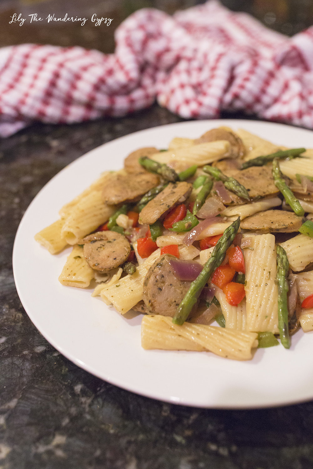 Penne Pasta and Sausage with Dorot