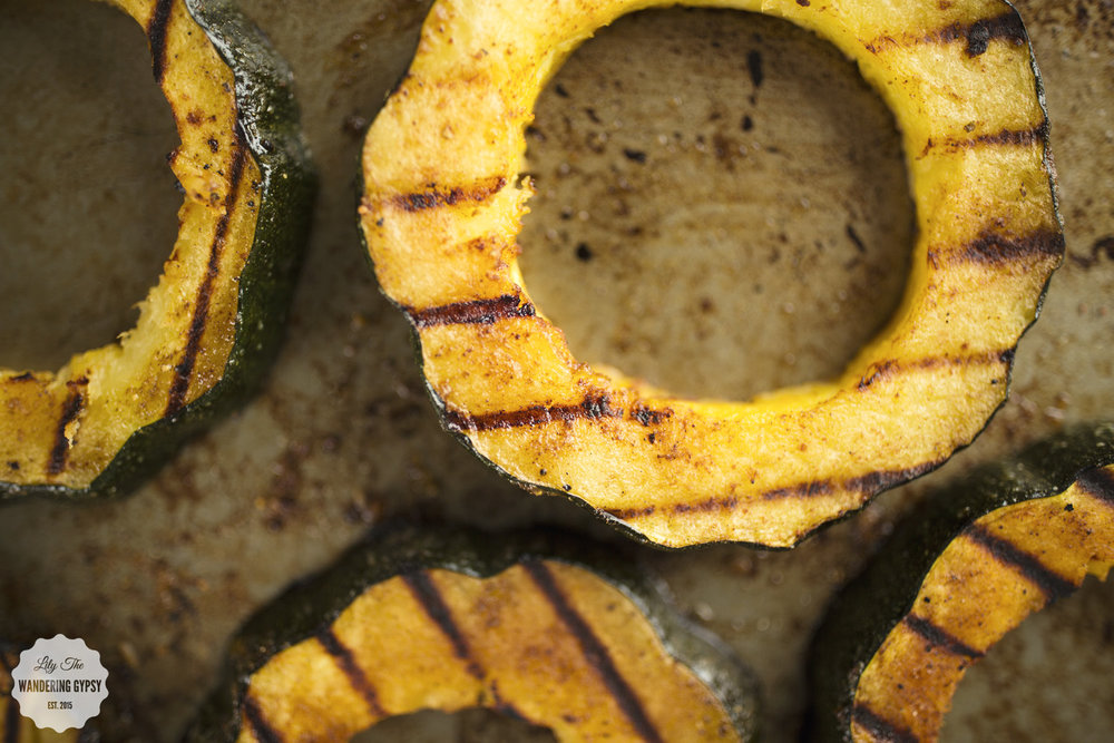 grilled acorn squash