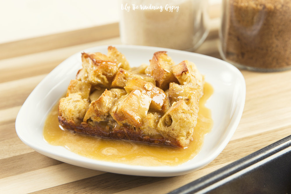 Delicious Caramel Topped Bread Pudding
