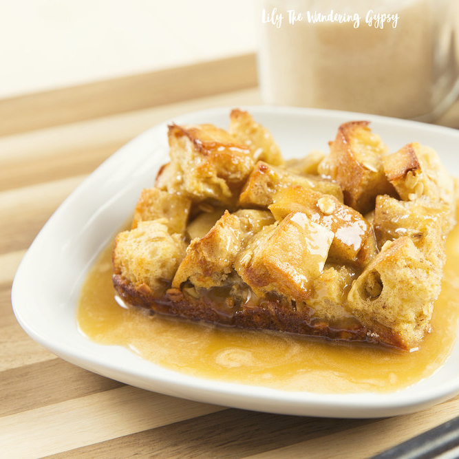 Caramel Glazed Bread Pudding