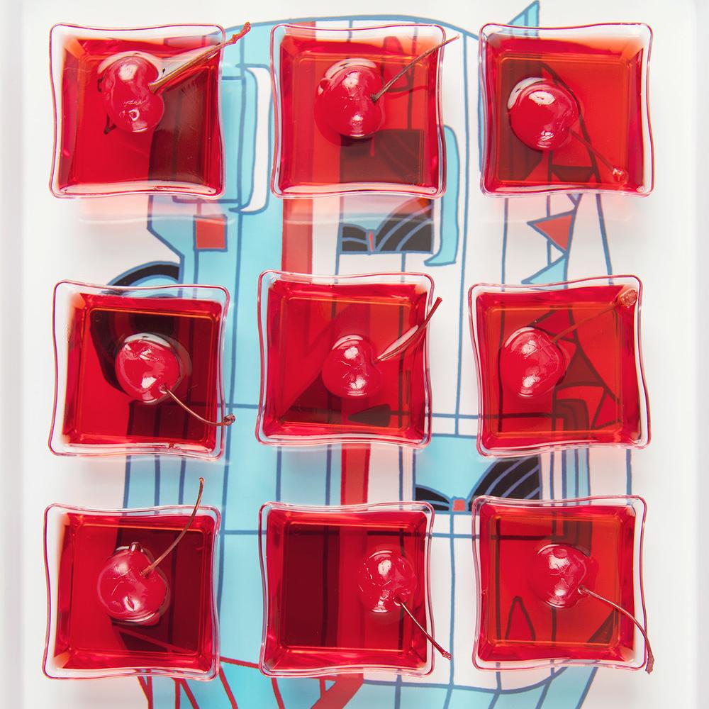 Cherry Jell-O Shots