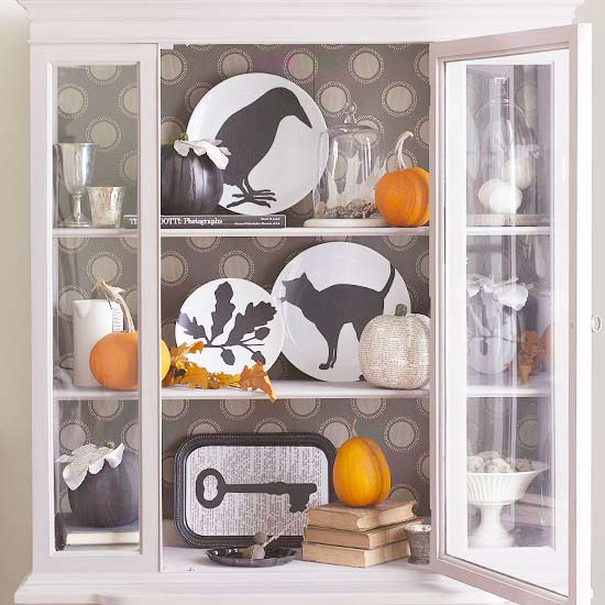 Cute Curio Cabinet Decor for Halloween