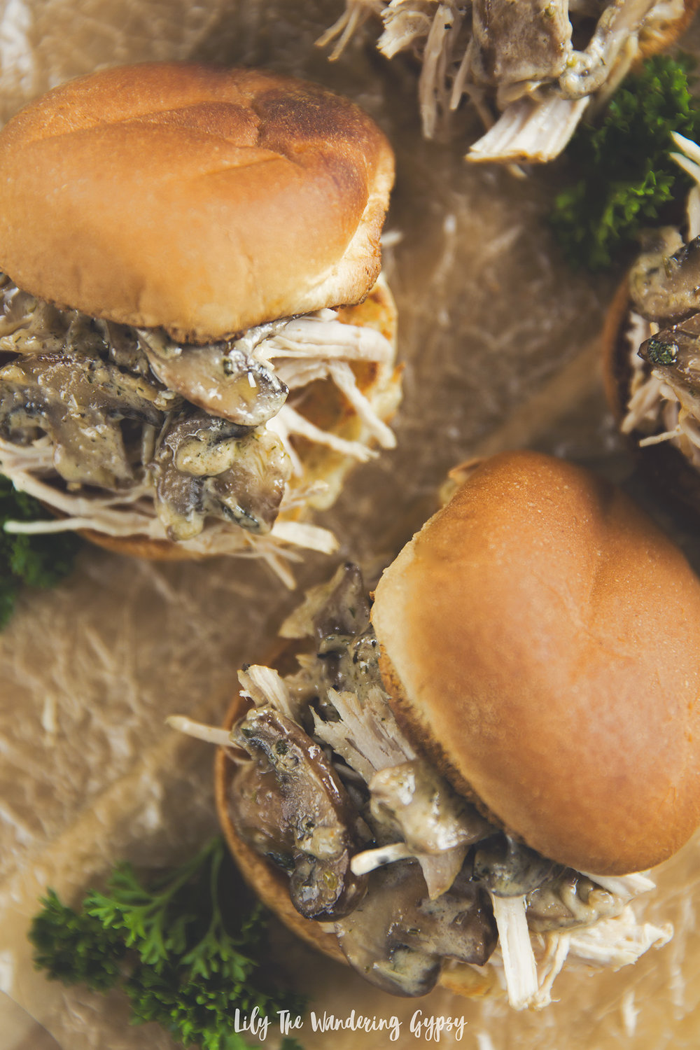 Mushroom + Pulled Pork Sliders Recipe
